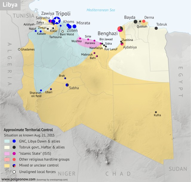 Libya Map War on ISIS