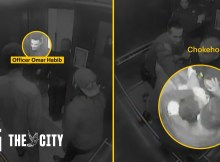 Evidence: NYPD Officer Omar Habib Uses a Prohibited Chokehold on Black Man in Elevator