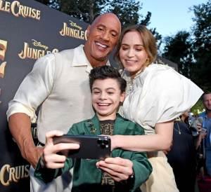 Dwayne Johnson, Raphael Alejandro, and Emily Blunt - World Premiere Of Disney's Jungle Cruise