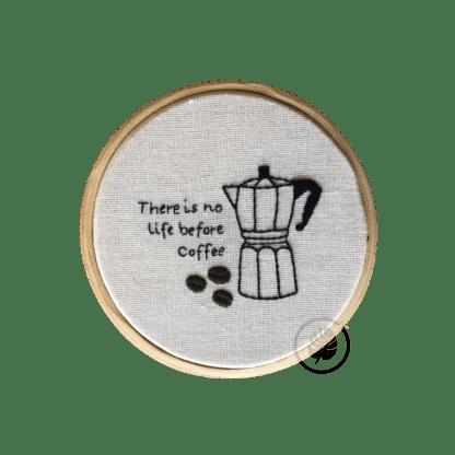 Kit de Bordado Pontos da Cris café