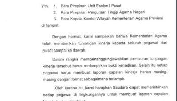 Surat Izin Tidak Masuk Pegawai Kementerian Agama Informasi