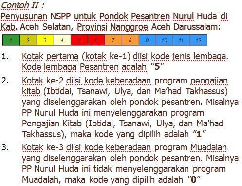 contoh penulisan nspp
