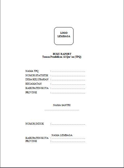 Format Administrasi Tpq Lengkap Dan Contoh Buku