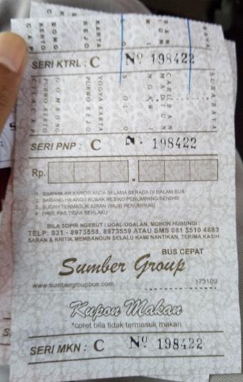 tiket bus sugeng rahayu kepulangan (mojokerto-solo)