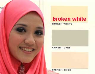 warna broken white
