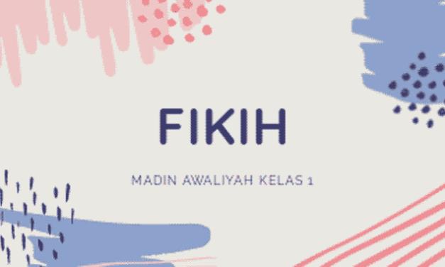 Materi Fikih untuk Madrasah Diniyah Takmiliyah Awaliyah kelas 1