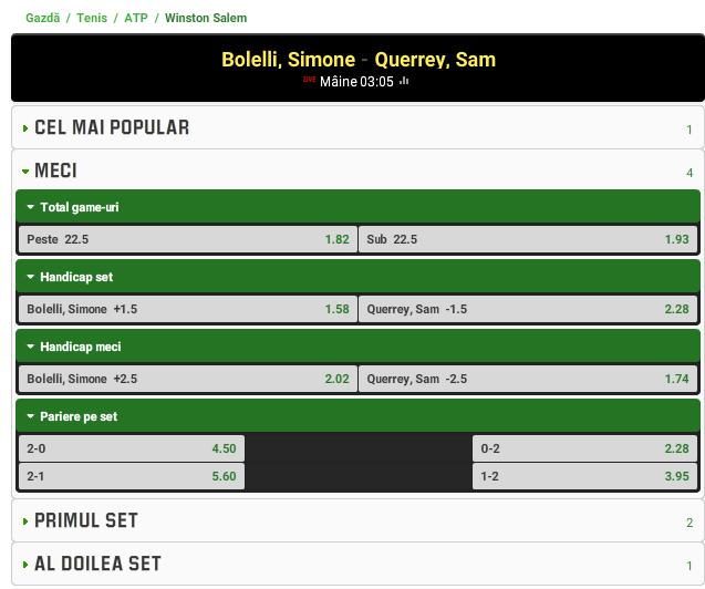 Simone Bolelli vs Sam Querrey