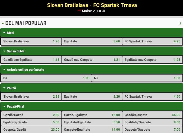 Slovan Bratislava vs Spartak Trnava