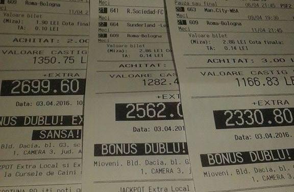 Bilete Pariuri : Madalin propune Bonus Dublu !