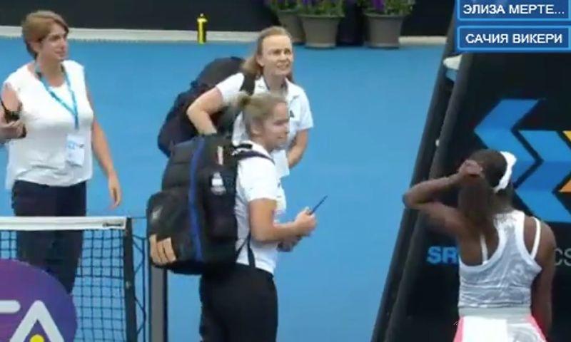 Ambele jucatoare de tenis au abandonat in acelasi moment la turneul de la Hobart