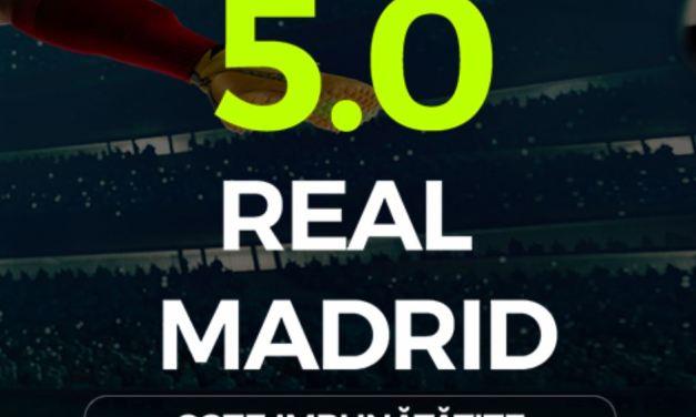 Cum sa iei un bonus la pariuri online cu bani putini: Real Madrid cota 5.00
