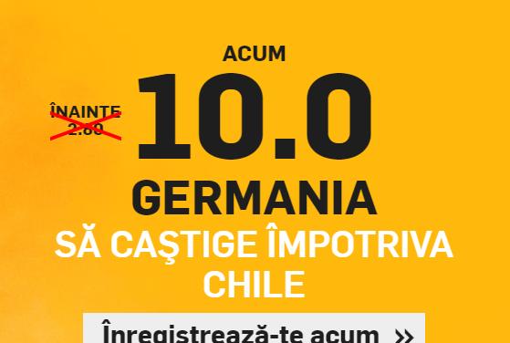 Cota fantastica pentru victoria Germaniei impotriva Chile