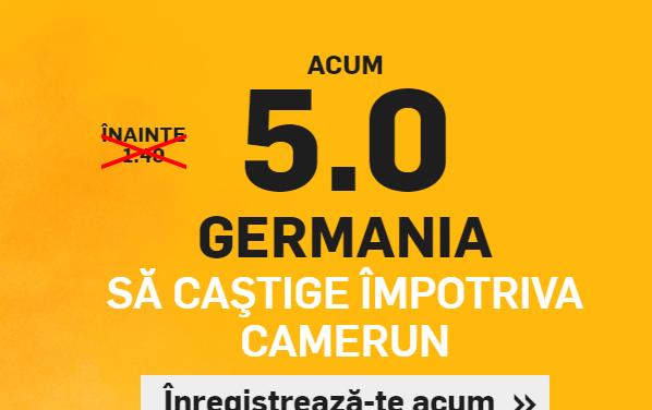 Cota 5 pentru ca Germania sa invinga Camerun