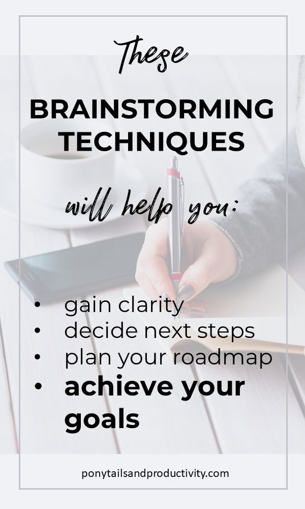 Brainstorming to help you achieve goals