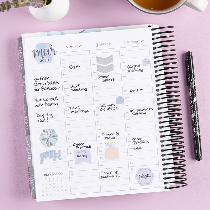 Track your self discipline in a planner
