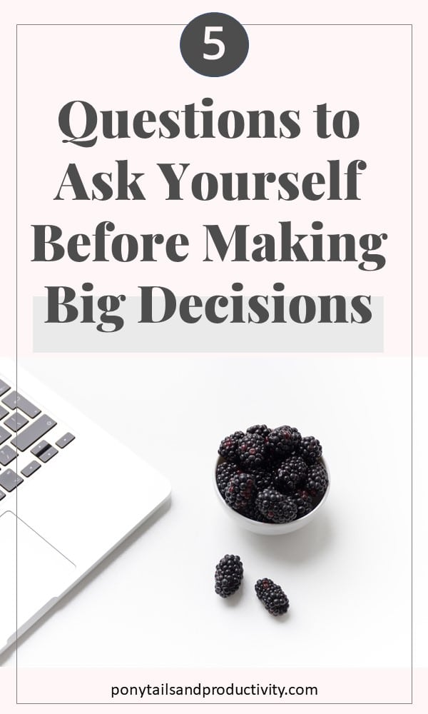 questions for decision making