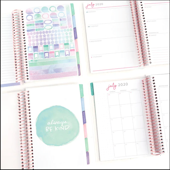 mini recollections planner layouts