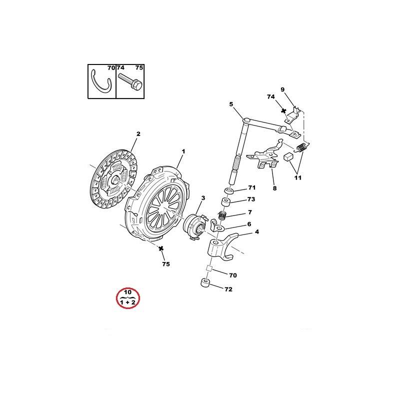 Clutch kit OEM Toyota Aygo/Citroen C1/Peugeot 107 @ Hmk Auto