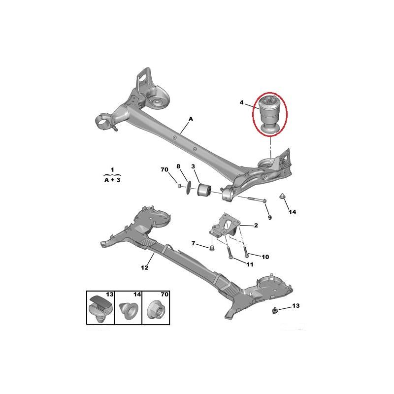 Suspension spring installation kit Citroen C4 Picasso