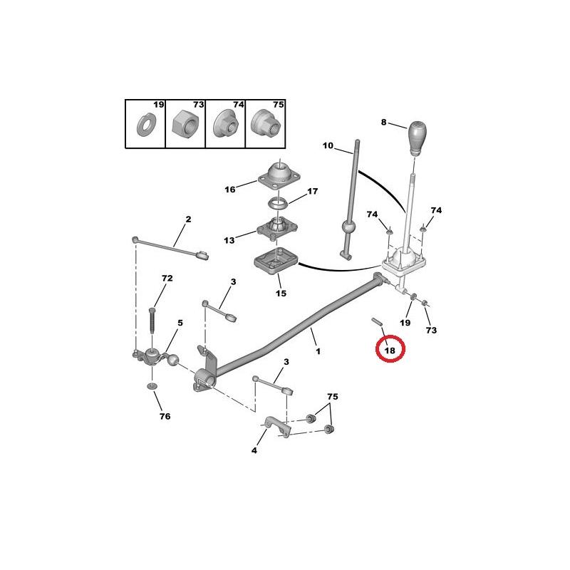 Gear selector bush Peugeot/Citroen @ Hmk Auto