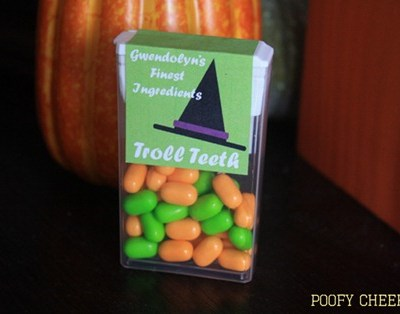 Printable Halloween Tic Tac Cover