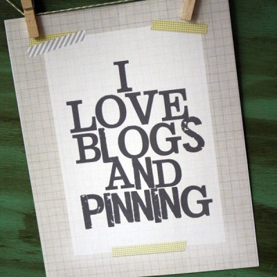 I Love Blogs & Pinning