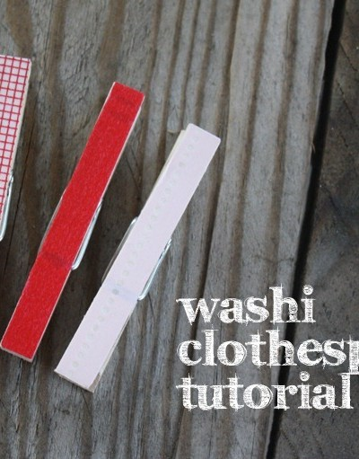 Washi Tape Clothespin Tutorial