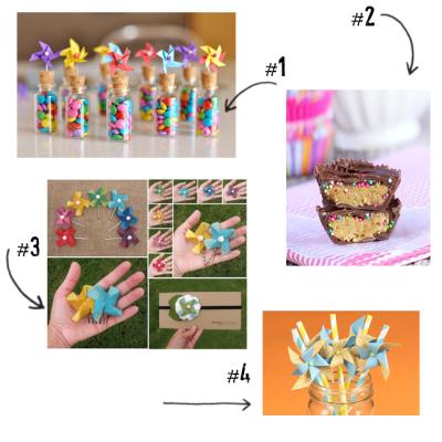 Baby Shower Mood Boards – Pinwheels & Pearls Theme