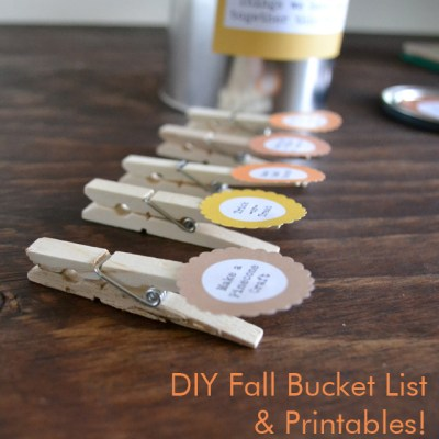 DIY Fall Bucket List & Printables