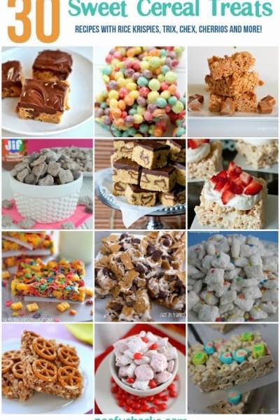 30 Sweet Cereal Treat Snacks