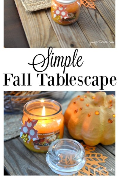 Simple Fall Tablescape with Fragrances of Fall