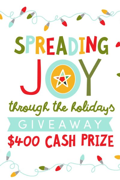 Spreading Joy Printable Gift Card Sleeve – $400 Cash Giveaway
