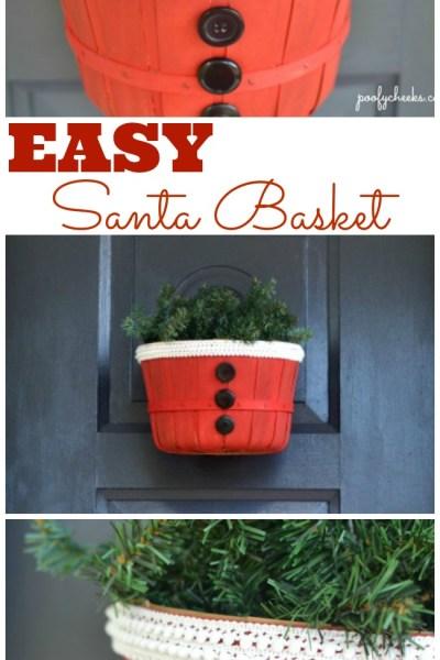 DIY – Easy Santa Basket Decoration