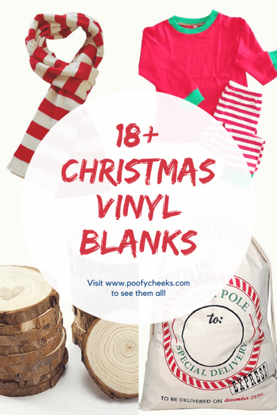Christmas Vinyl Blanks for Silhouette and Cricut Machine Users