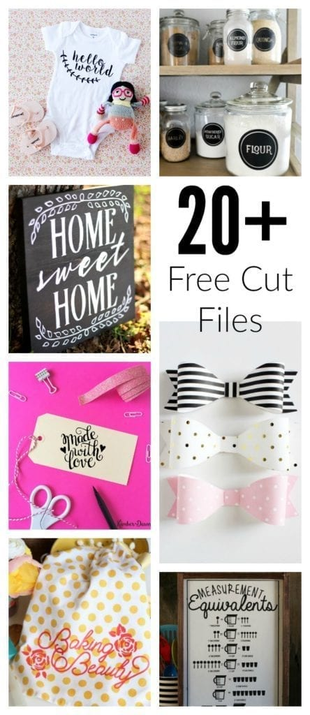 20+ Free Cut Files for Silhouette and Cricut