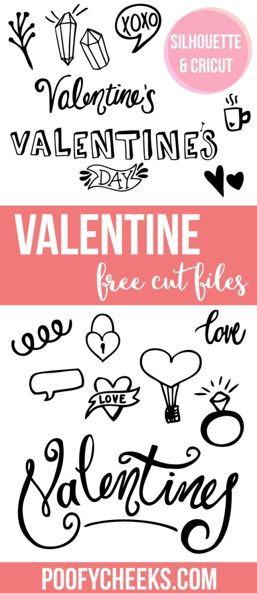 Valentine's Cut Files - For Silhouette and Cricut Cutting Machines