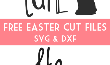 Easter Cut Files – Free cut file for Silhouette and Cricut – SVG and DXF