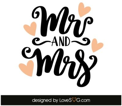 Mr. and Mrs. SVG Cut File