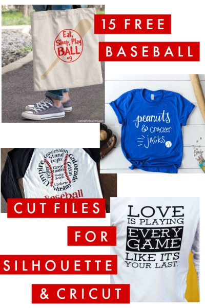 15 Creative Free Baseball Cut files for Silhouette and Cricut