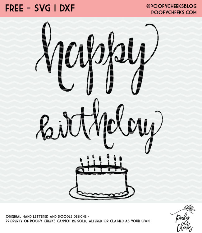 Download Happy Birthday Cut File - Free Cut File for Silhouette and ...