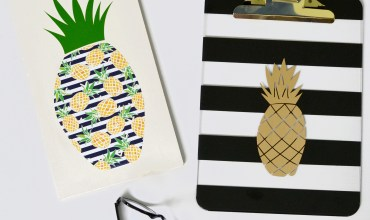 Pineapple Cut File Freebies Paired with Summer Tropic Adhesive Vinyl – Designs for Silhouette and Cricut Cutting Machines