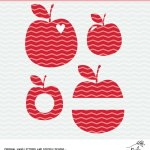 Free Apple Cut Files and Teacher Gift Idea with Adhesive Vinyl – Cricut and Silhouette Project Idea – SVG, PNG, DXF file