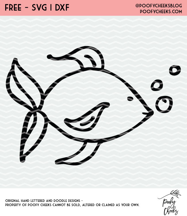 Fishy, fishy cut file. Cut file for Silhouette and Cricut cutting machines. Grab free cut files from PoofyCheeks.com