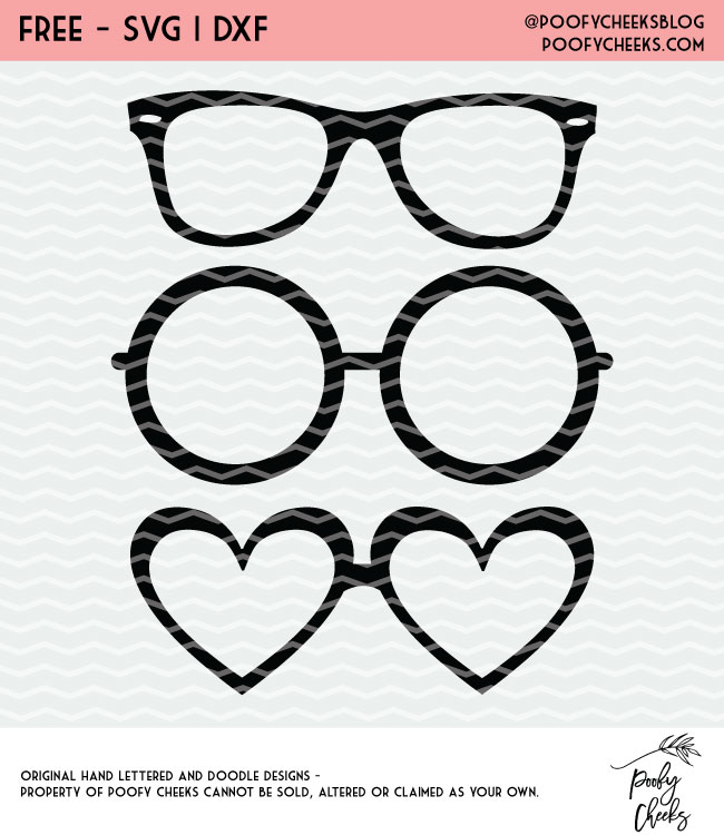 glasses cut file silhouette cameo and cricut design free svg