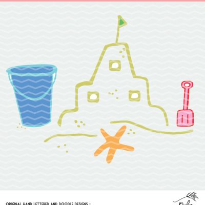 Sandcastle Cut File for Summer – Cricut and Silhouette Design – Free SVG, DXF and PNG