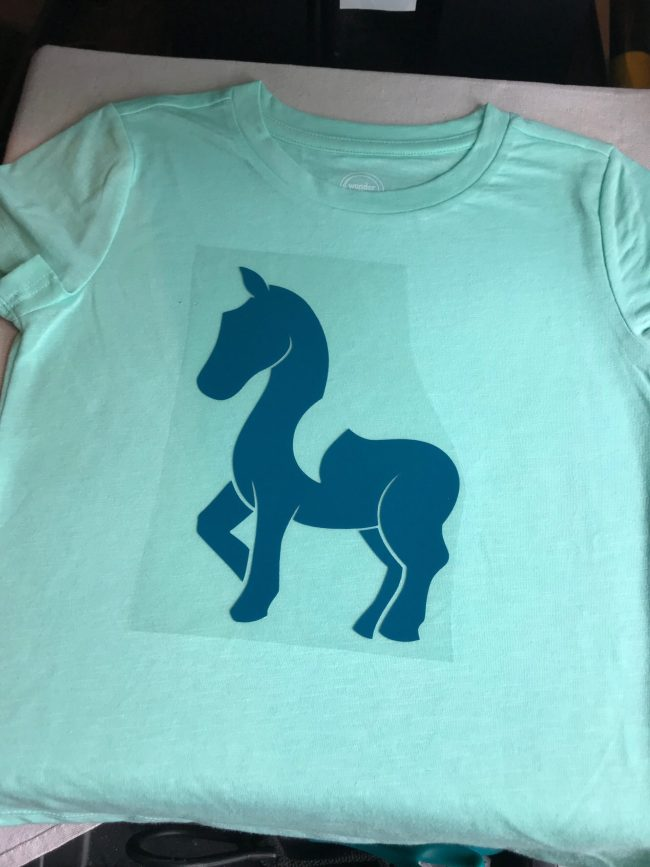 How to layer HTV for a multi layer design. Unicorn Shirt using heat transfer vinyl.