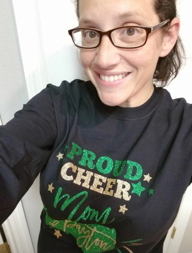Proud Cheer Mom Cut File - Cheerleading Cut File for Silhouette and Cricut