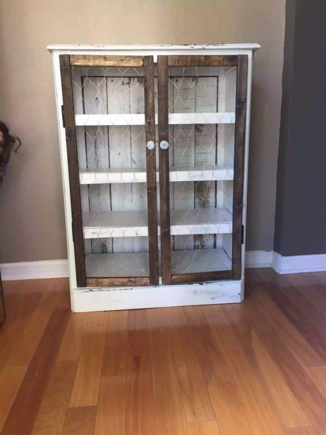 Dresser to Pie Safe Transformation - Furniture Redo done by reNEWed.