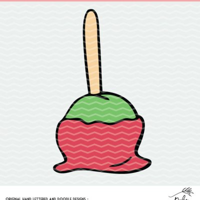 Caramel Apple and Candy Apple Cut File – For Silhouette and Cricut Cutting Machines