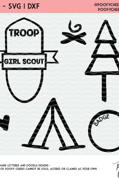 Girl Scout Cut Files for Silhouette and Cricut – DXF, SVG and PNG file